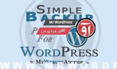 دانلود افزونه فارسی Simple Backup 2