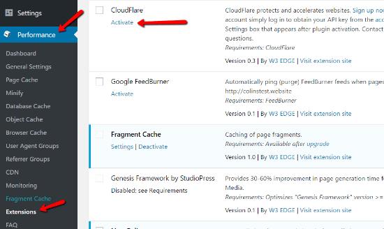 افزایش سرعت سایت وردپرس با افزونه w3 total cache و cloudflare 5