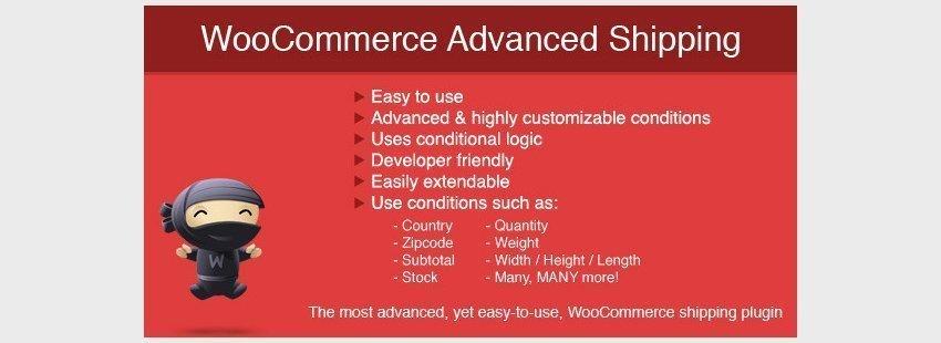 افزونه حمل و نقل حرفه ای ووکامرسWooCommerce Advanced Shipping