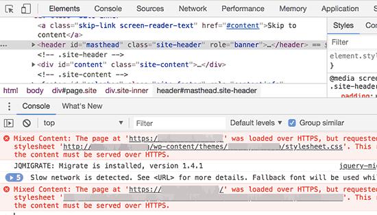 خطاهای HTTPS / SSL بدون استفاده از افزونه بر طرف کنید